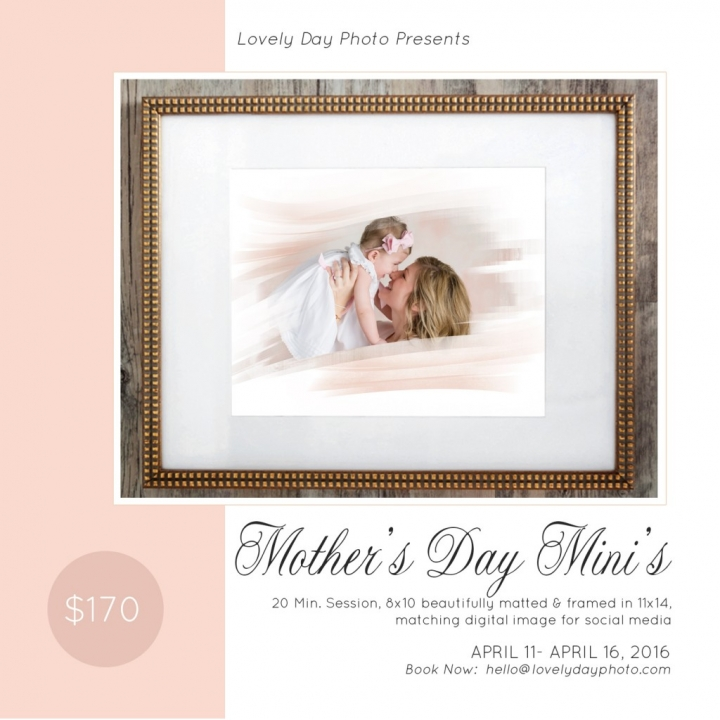 Mother's Day Portrait Sessions